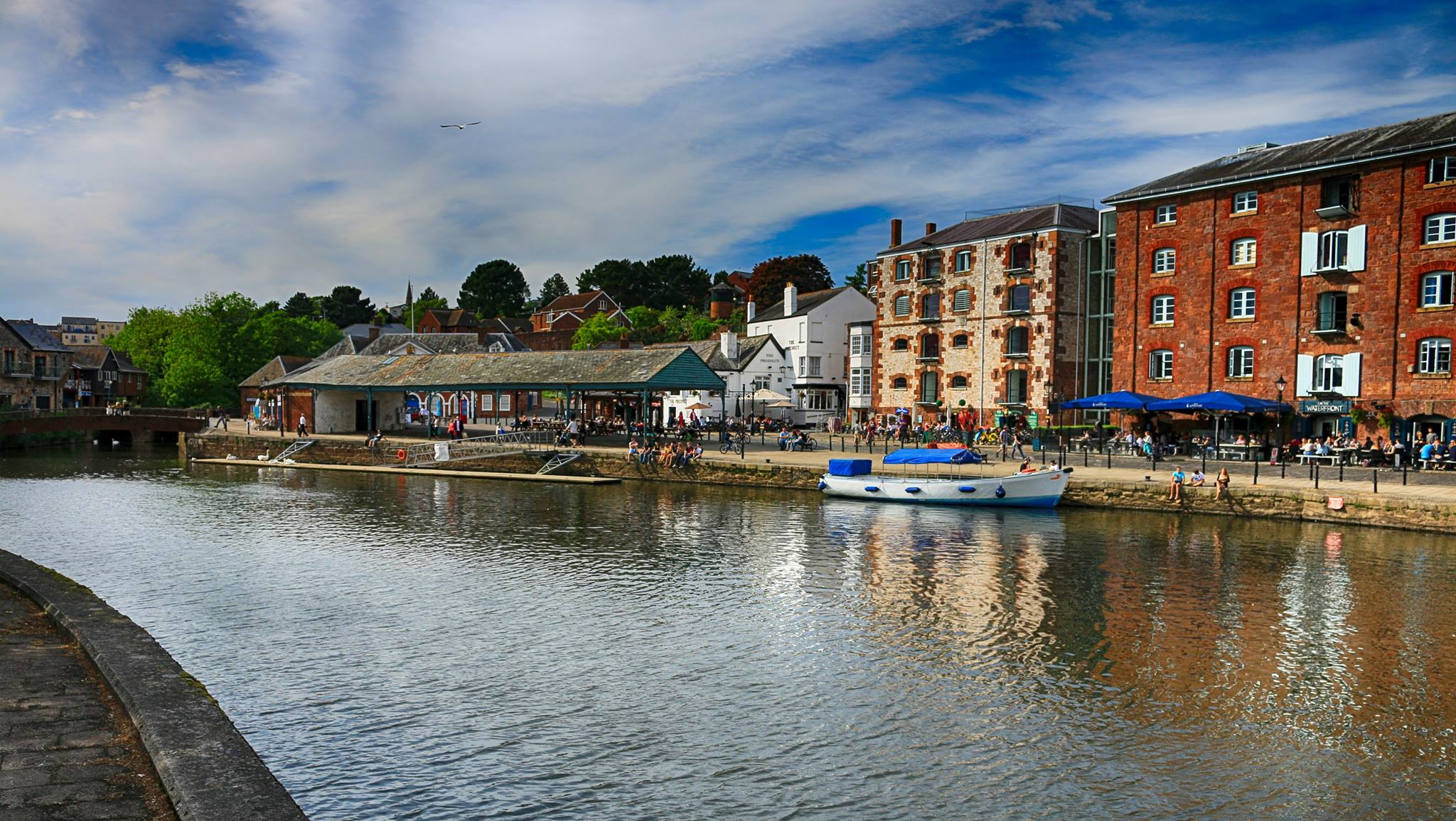 A riverside scene in Exeter. Photo by Florin Oresanu